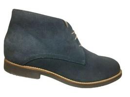 Hitchcock Mens Chukkas Size 12 E Ankle Boots Blue Suede Shoes - $44.27