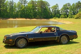 1977 Pontiac Trans Am black gold pond, 24 x 36 Inch Poster, formula, 6.6 engine  - $18.99