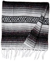 KAYSO Authentic 6' x 5' Mexican Siesta Blanket (Grey) - $11.90 CAD