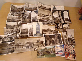 Lot of 28 Vintage 1938-64 Postcards Views of Italy Rome Venice Vatican