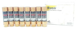 LOT OF 8 COOPER BUSSMANN FUSETRON FRN-R-50 CLASS RK5 FUSES FRNR50