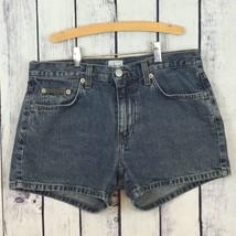CK Calvin Klein Womens Juniors Denim Jean Shorts Size 7 MOM High Rise A1-25 - $12.99