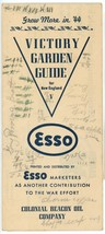 Esso Victory garden Guide vintage 1944 Boston advertising ephemera WW II  - $12.00
