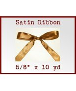 Chocolate Brown Satin Sgl Face Polyester Ribbon... - $2.75