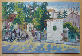 Painting oil Of 900 View by Country Opera Signed Painter Spanish Segura MD1 - $196.35
