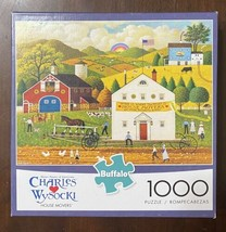 Buffalo 1000 pc Puzzle - HOUSE MOVERS - by Charles Wysocki Complete w/Po... - $10.05