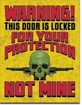 Don't Tread On Me Warning Military Door Humor Guns Garage Wall Decor Metal Sign - $15.99