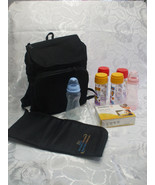 Black Diaper Bag Backpack  Baby Bottles Changing Mat And Quick Steam Bag... - $29.70