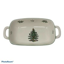 Spode Christmas Tree Rectangle Candy Dish With Handles - $20.74