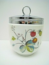 Royal Worcester Strawberry Fair Large Jumbo Maxime Egg Coddler With Lid - $38.48