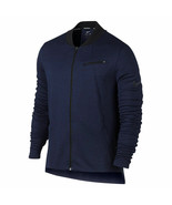 New Nike Men's HYPER ELITE Long Sleeve Basketball Zip Jacket Navy Variet... - $67.99