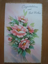 Vintage Congratulations and Best Wishes Greeting Card - $1.99