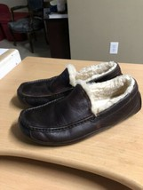 Men's Ugg Australia Loafers Shoes Moccasins Size 11 Brown Sheepskin  - $52.01
