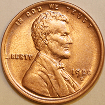 1920 D Lincoln Wheat Cent - Red Gem BU / MS RD / UNC - $235.00