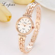 Lvpai® Women Fashion Luxury Watch Rose Gold Silver Ladies Bracelet Casual Dial image 3