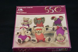 """550 Piece """"Bear With It"""" Jigsaw Puzzle Shaped Pieces American Publishing... - $8.33"""