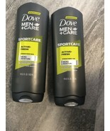 Dove Men+Care Extra Fresh Body and Face Wash Active Fresh -18 oz Lot of 2 - $12.37