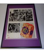 1937 Ritz Crackers Framed 11x17 ORIGINAL Vintage Advertising Poster - $65.09