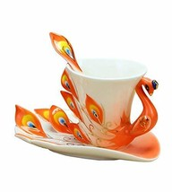 Orange Creative Coffee Cup With A Plate&Spoon - $27.23