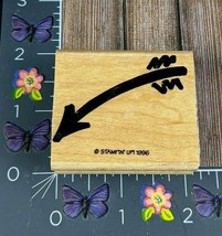 Stampin' Up! Arrow Rubber Stamp 1996 Sign Here Wood Mount #M39 - $3.47