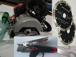 "Wet Stone Cutter Concrete Tile Saw & 7 X 5"" Diamond cutting blade masonry marble - $173.24"