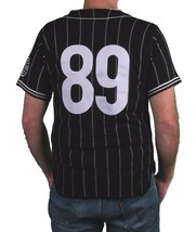 Hall Of Fame Black House Wool Blend Knit Button Up Baseball Jersey Shirt image 2