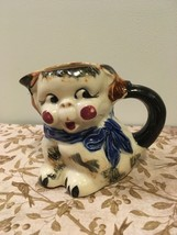 Vintage Kitsch Hand painted Dog Creamer Pitcher Small Vase Marked  - $10.00