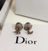 """Authentic Christian Dior Tribal Earrings """"DIOR TRIBALES"""" Crystal Moon Star Gold image 4"""