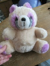 """Vintage MTY International Raccoon 12"""" Plush Stuffed Animal Pastel Purple... - $39.59"""