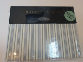 Ralph Lauren Islesboro McKensie Stripe Queen Flat Sheet New - $77.55
