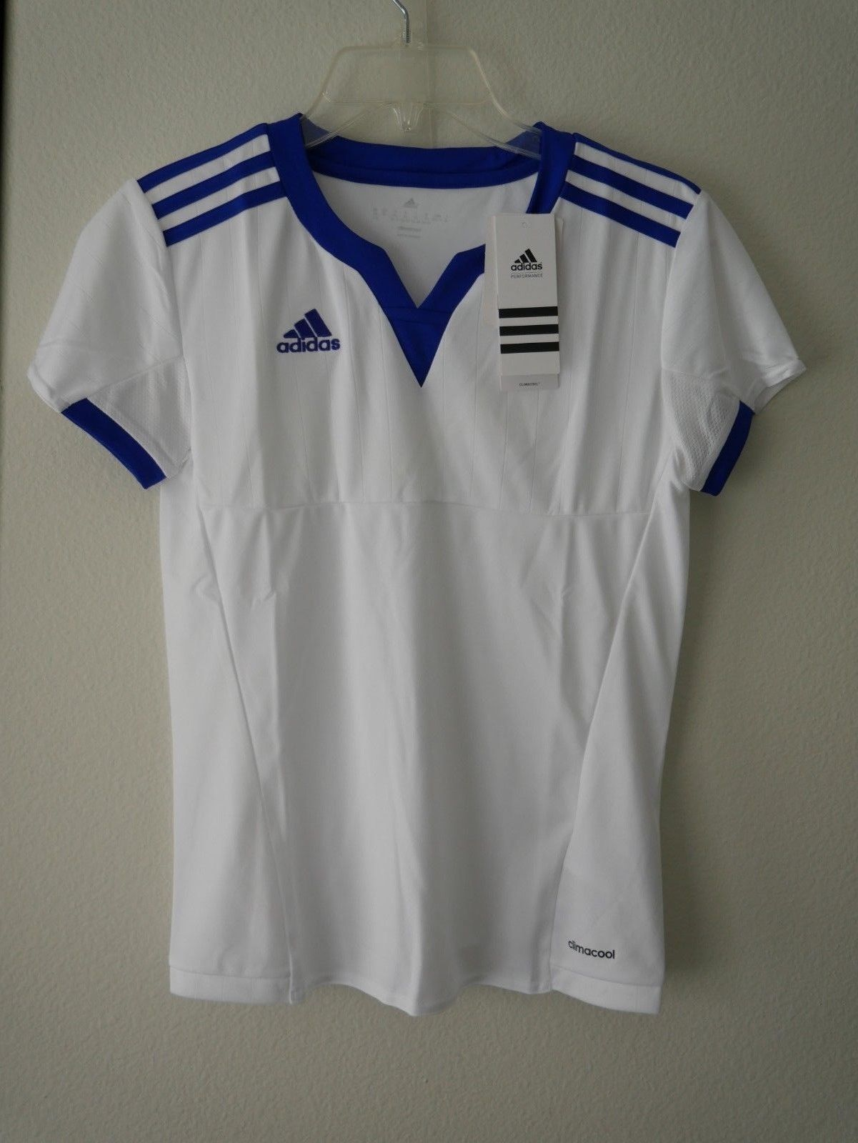 ddc62d96e 57. 57. Previous. Adidas Performance Soccer Womens Climacool Tiro 15 Jersey  ...