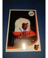 Danny Valencia Baltimore Orioles Autographed Postcard Fanfest - $19.20