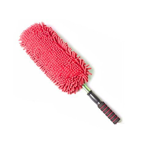 Cleaning Supplies Retractable Chenille Yarn Car Duster/Dust brush,RED