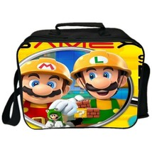 Mario Insulated Lunch Bag Adults Portable Lunchbox Kids School Food Stor... - $22.99