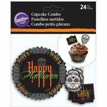 Wilton Cupcake Combo Kit Day of the Dead Halloween Deadly Soiree 24 Ct - $4.94