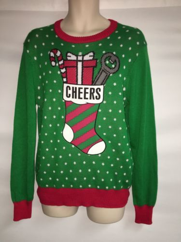 Primary image for Hybrid Holiday Ugly Christmas Sweater Mens Small Stocking NWOT