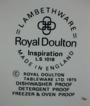 Royal Doulton Inspiration LS1016 Creamer Pitcher Lambethware England Blue Floral image 3