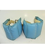 Vintage Pair of 5 lb Light Blue Leather Exercise Wrist / Ankle Weights - $21.11