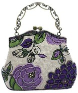 Beallure Women's Vintage Luxury Printing Beaded Women Handbag Evening Bag - £44.92 GBP