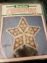 Victorian Lace Star Ornament Christmas Plastic Canvas 61094  Bucilla Crafting - $8.08