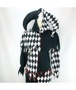 Halloween Costume Evil Jester Child Medium Black White Skull Cosplay  - $44.54