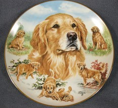 Faithful Friend Collector Plate For The Love Of Goldens Linda Picken Dogs - £16.93 GBP