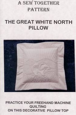 Quilted Pillow Pattern Polar Bear Arctic Northern Landscape Machine Quilting NOS