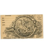 Sears Roebuck vintage postal cover envelope 1890 fancy advertising - €4,29 EUR