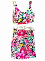 Rave Pink Green and Black Crop Top & Skirt Set NWOT Size S/M - $57.00