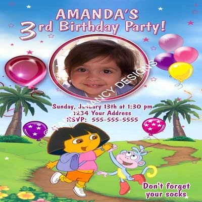 Dora The Explorer Go Diego Go Brother Sister Twins Birthday Party Invitations