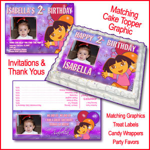 Dora The Explorer Birthday Party Matching Thank You Candy Bar Wrappers Supplies