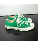 Converse All Star Green Canvas Low Top Shoe Size 6  Women - $17.82