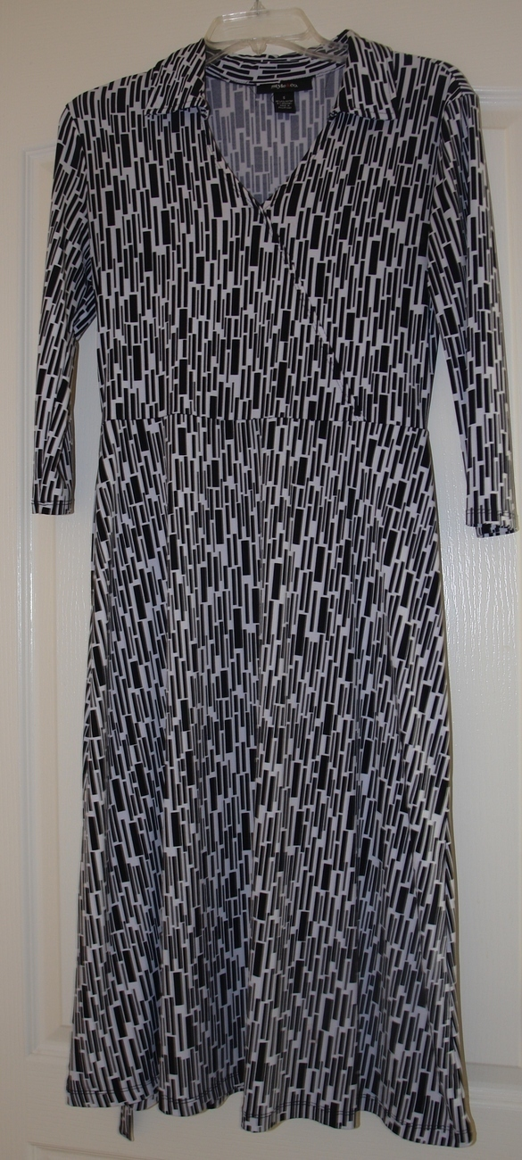 Style & Co. Ladies Black and white dress size small