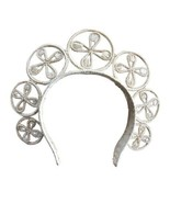 Iraca headpiece 7 flower crown Headband Hair Accessory Natural Handcraft... - $60.00